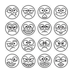 Photos illustrations et vid os de moticon - Smiley noir et blanc ...