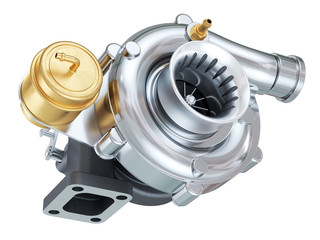 Car turbocharger. Auto parts