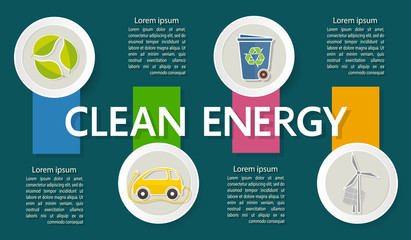 Vector template with options for solving environmental pollution problems