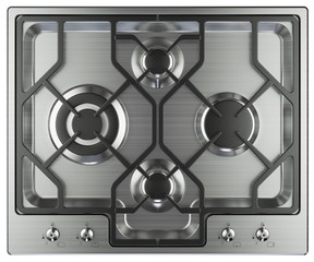 Kitchen stove top view