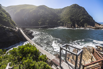 Hanging bridge over Storms River mouth, Tsitsikamma National Park