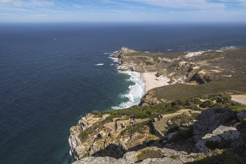 View on the cape of good hope from Cape point