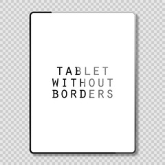 Tablet  gray color with blank touch screen isolated on white background vector illustration