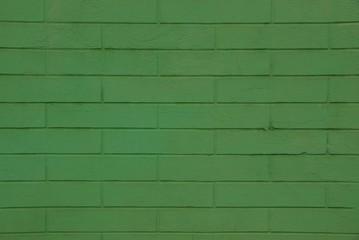 Зелёная текстура из кирпичной кладки жилого дома