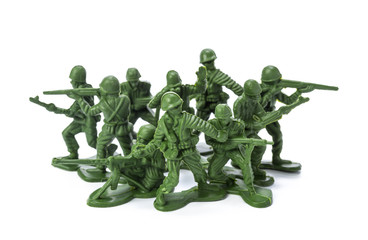 Collection of traditional toy soldiers