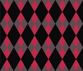 diamond-shaped black and red texture pattern vector