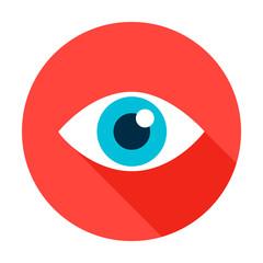 Eye Flat Circle Icon
