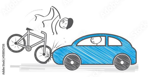 Verkehrsunfall Mit Fahrradfaher Stockfotos Und Lizenzfreie Vektoren