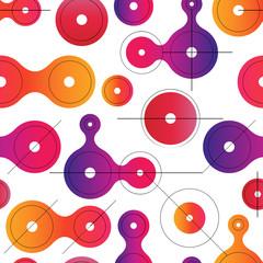 Flat metaball seamless pattern