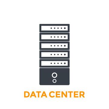 server, data center vector icon