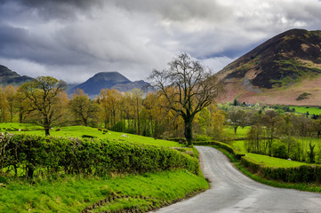 Country lane in Lake District