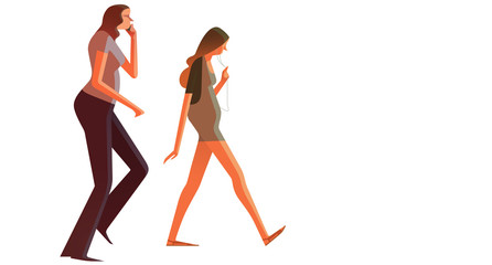 Girls Walking with Cellphones