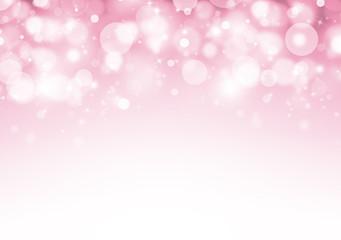 Soft Pink glitter sparkles rays lights bokeh Festive Elegant abstract valentine background.
