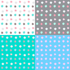 Set of four pattern with dot