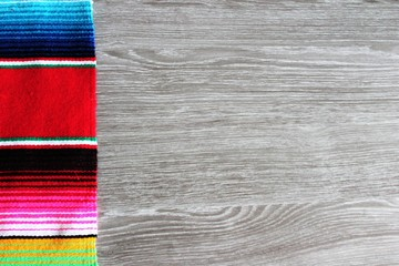 mexican poncho background cinco de mayo with copy space serape stock, photo, photograph, image, picture