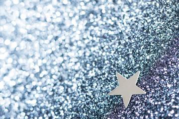 Dark blue background with sparkles