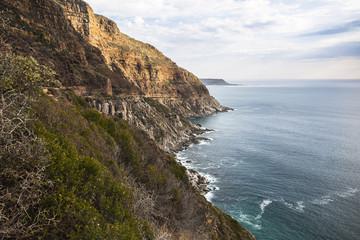 Wonderful landscape view on coast at Chapmans Peak Drive, Cape Town