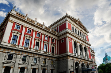 The facade of the Wiener Musikverein, one of the best historic concert hall in the world