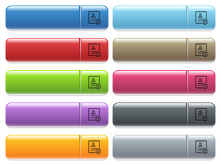 Link contact icons on color glossy, rectangular menu button