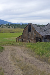 Dilapidated Mountain Barn