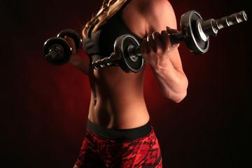 power girl athletic woman