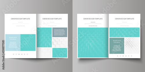 Business Templates For Bi Fold Brochure Flyer Booklet Report Cover Design Template