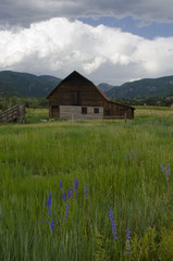 Steamboat Springs Barn and Oncoming Storm