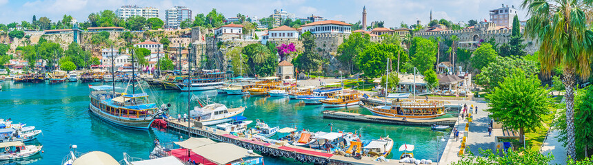 In old marina of Antalya