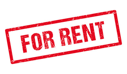 For rent red stamp.
