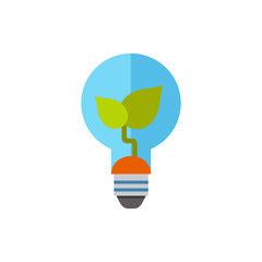 Seedling in lamp icon