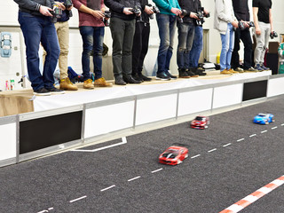 Participants in competition for racing radio controlled cars