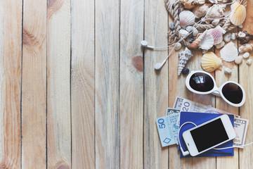 Phone, passports, money and marine decorations