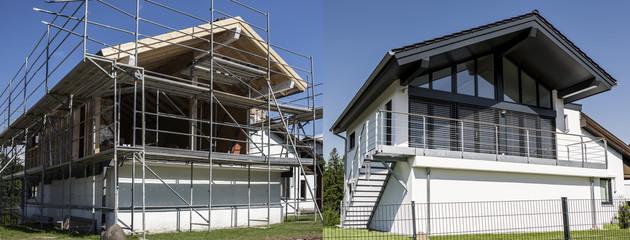 Haus Vorher-Nachher