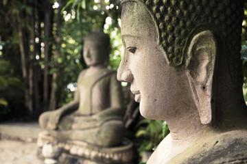 Buddha statues at the Royal Palace, Phnom Penh, Cambodia. Wall mural