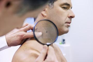 Dermatology consultation man