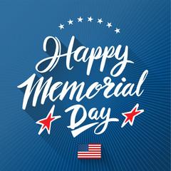 Happy Memorial Day lettering.