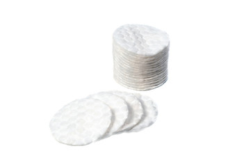Wadding discs for removing makeup