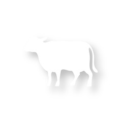 Icon mit Schatten - Kuh