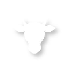 Icon mit Schatten - Kopf Rind