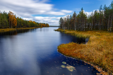 Fall on the river, Finland, Lapland