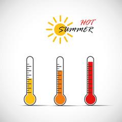 hot summer temperaturanstieg