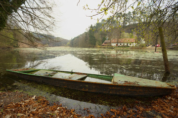 Old boat on the bank