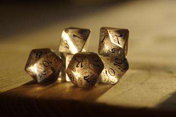 RPG dice for Dungeons and Dragons