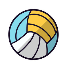 Volley ball icon . Sport objects. Volley ball illustration. Vector stock.