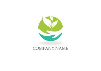 round save ecology nature logo - fototapety na wymiar