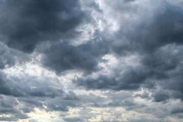 dark clouds sky -  stormy weather cloudscape