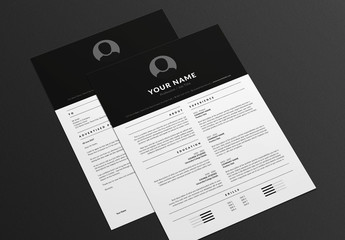 Solid Resume and Cover Letter Layout