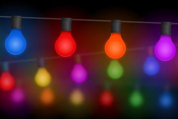 lichterkette glühbirnen IX