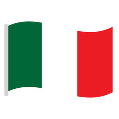 Isolated Italian flag on a white background, Vector illustration