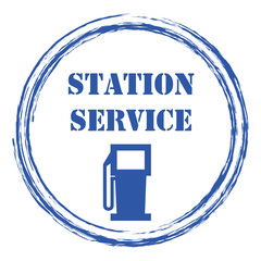 Logo station service.